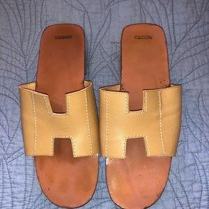 HERMES H sandals size 38 Authentic
